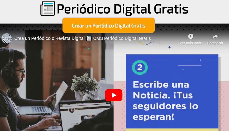 Video promocional de Periódico Digital Gratis
